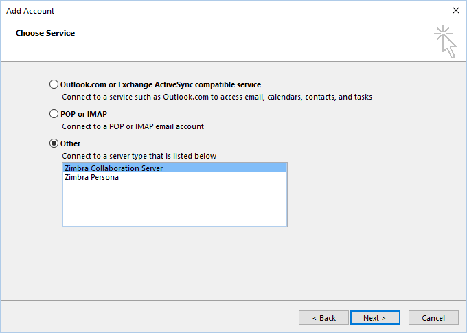 Set up your Zimbra account in Outlook